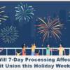 How Will 7-Day Processing Affect Your Credit Union this Holiday Weekend?