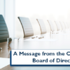 A Message from the CU*Answers Board of Directors