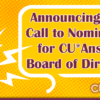 Announcing 2021 Call to Nominations for the CU*Answers Board of Directors!