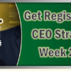 Registration is now open for CEO Strategies Week 2017!