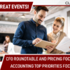 1 Day, 2 Great Events – Join Us for the 2019 CFO Roundtable and Pricing Focus Group!
