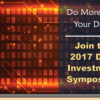Join the Discussion at the 2017 Data Investment Symposium!