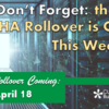 Don't Forget: the Next HA Rollover is Coming this Weekend!