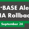 CU*BASE HA Rollback Updates for September 26