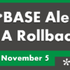 HA Rollback Updates for November 5