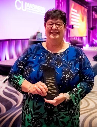 2021 Spirit of CU*Answers Award recipient Debie Keesee, President/CEO of Spokane Media FCU