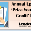 Annual Update for RegV 'Price You Pay For Credit' Forms