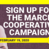 Don't Forget to Sign Up for the March Cooperative Campaign!