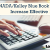NADA/Kelley Blue Book Pricing Increase Effective 10/1/20