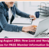 Arriving August 28th: New Look and Navigation Changes for PASS Member Information Screens
