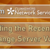 A Note from Network Services Regarding the Recent Microsoft Exchange Server Vulnerability