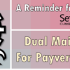 Dual Maintenance Reminder for Payveris Bill Pay Clients