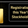 Registration is Open for this Year's All-Digital Stockholders Meeting!