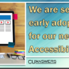 We are seeking early adopters for our new Web Accessibility Service!
