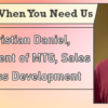 We're Here When You Need Us – Meet Kristian Daniel, Vice President of MTG, Sales & Business Development