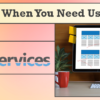 We're Here When You Need Us – Web Services