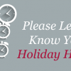 Xtend Holiday Hours Survey!