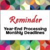 Year-End Processing: November Deadlines