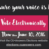 Reminder: time to vote in the 2016 Elections!