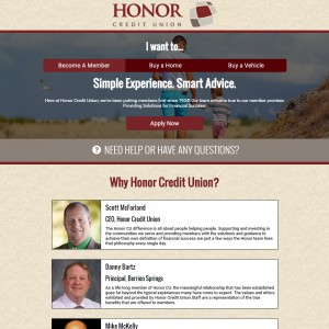 Honor Credit Union MAP site