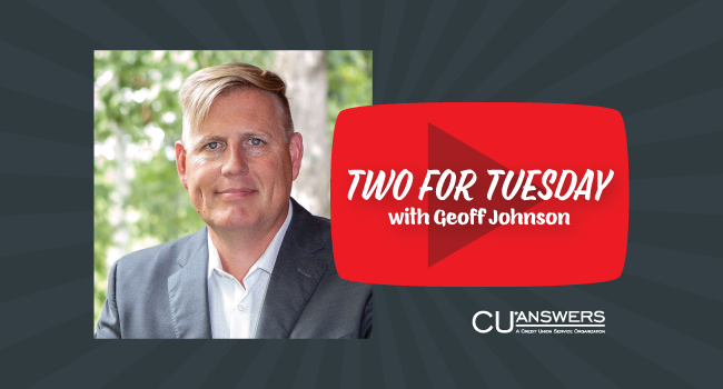 Click to watch Geoff Johnson's Two for Tuesday Video