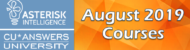 Check Out the Asterisk Intelligence University Courses for August!